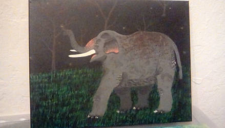 Asian elephant by TheCrowAtMidnight