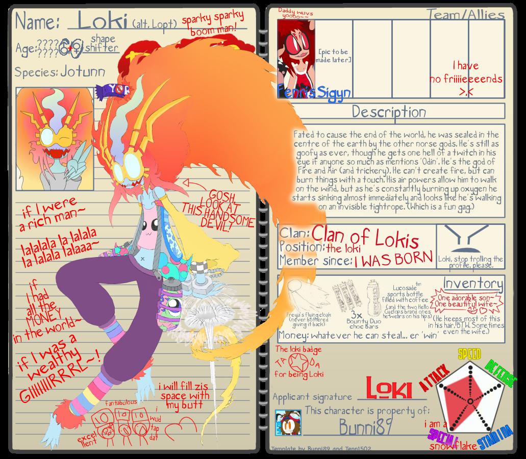 Byako League Loki :OFF: by Bunni89