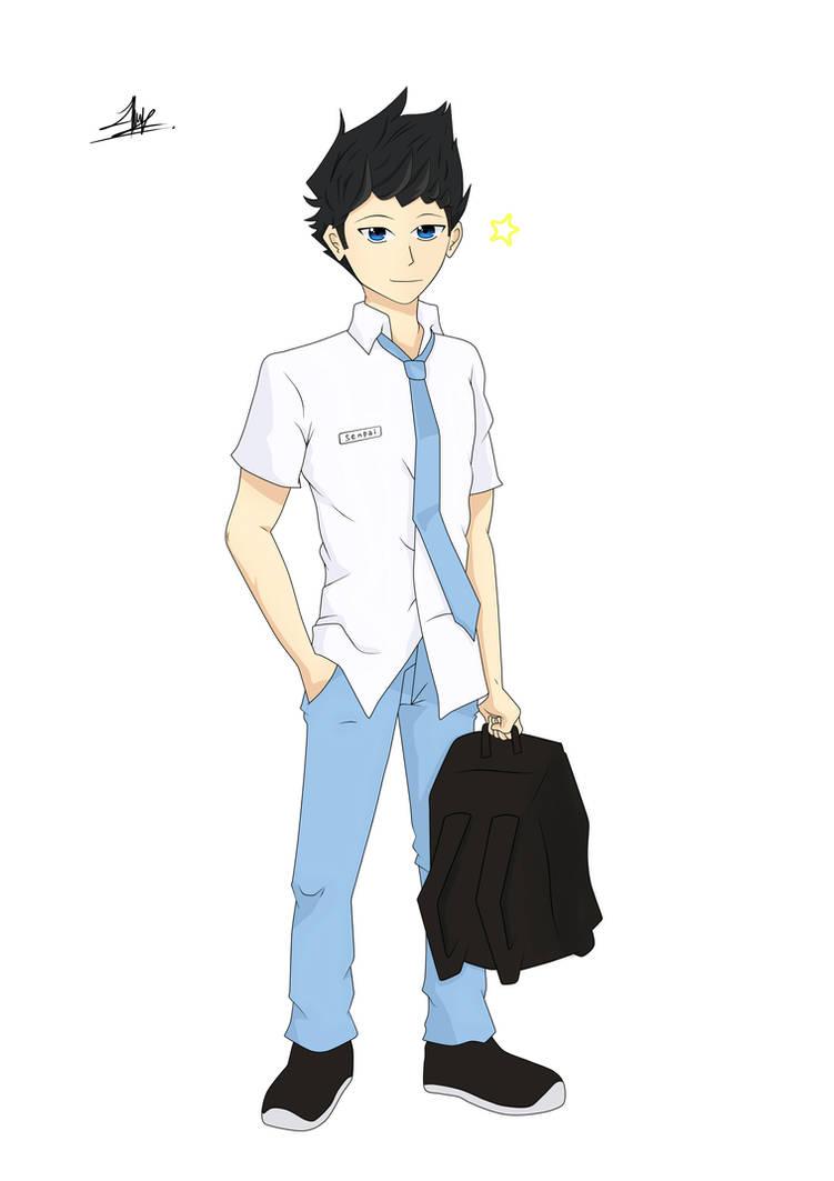 anime cowok sma   senpai idaman by afdalrdh dbhb90u