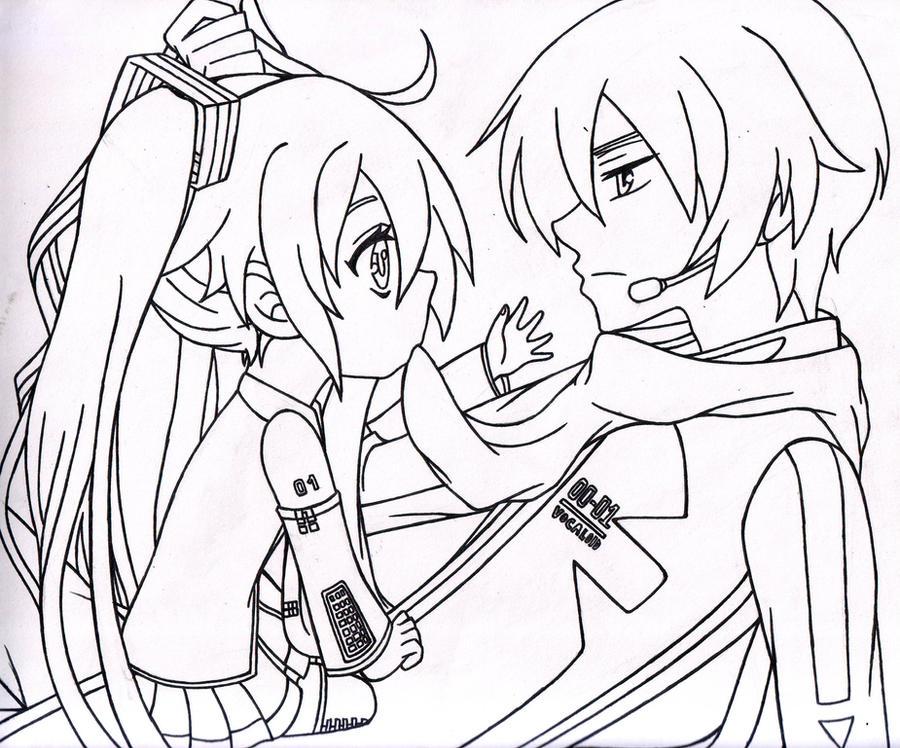 chibi hatsune miku and kaito shion sketch by minillusi0ns on deviantart