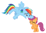 Rainbow and Scootaloo - Campfire Tales (Vector)