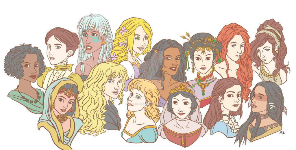 Disney Girls by momentaifey