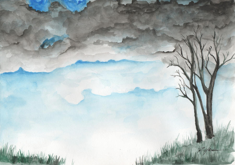 landscape watercolor by rchaem