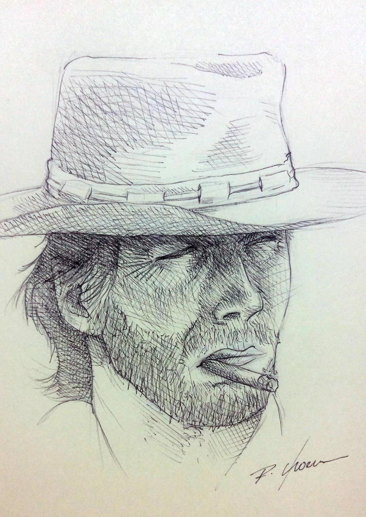 Clint Eastwood by rchaem