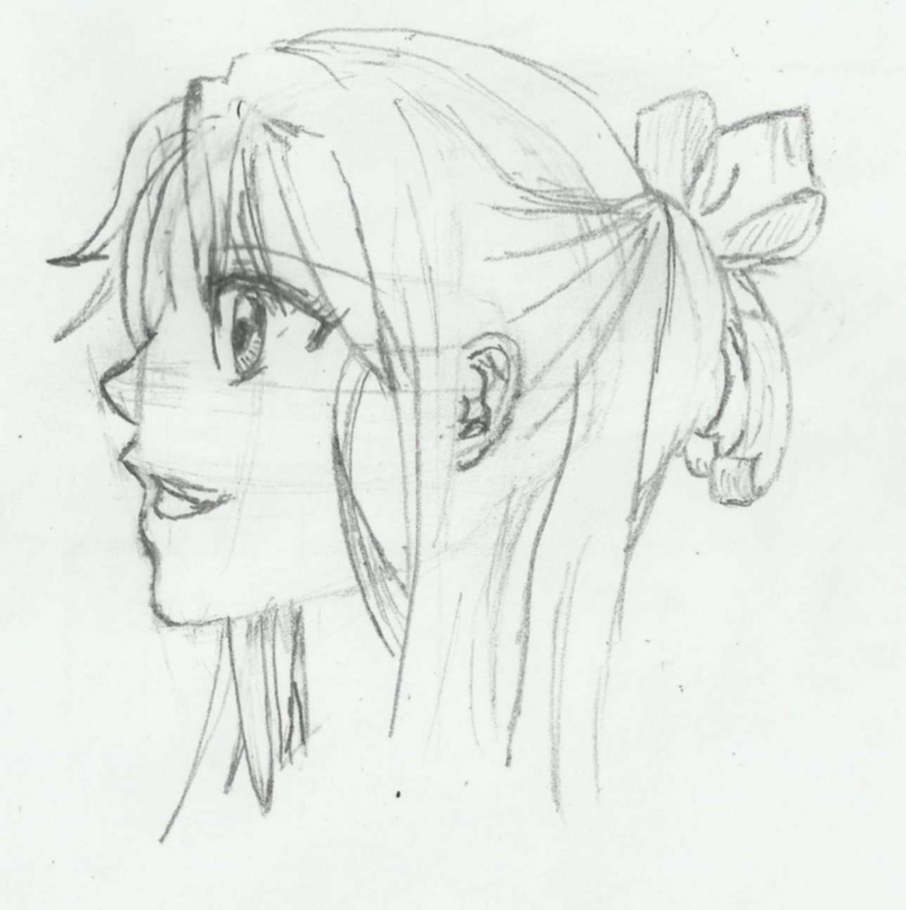 manga practice girls face side view by cejnarm on