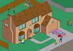 The Simpsons Pixel Scene