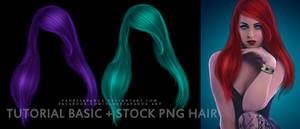 PSD Tutorial Basic Hair + Stock PNG Hair by VanessaPadua