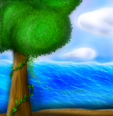 Practice Drawing - Tree by the Ocean
