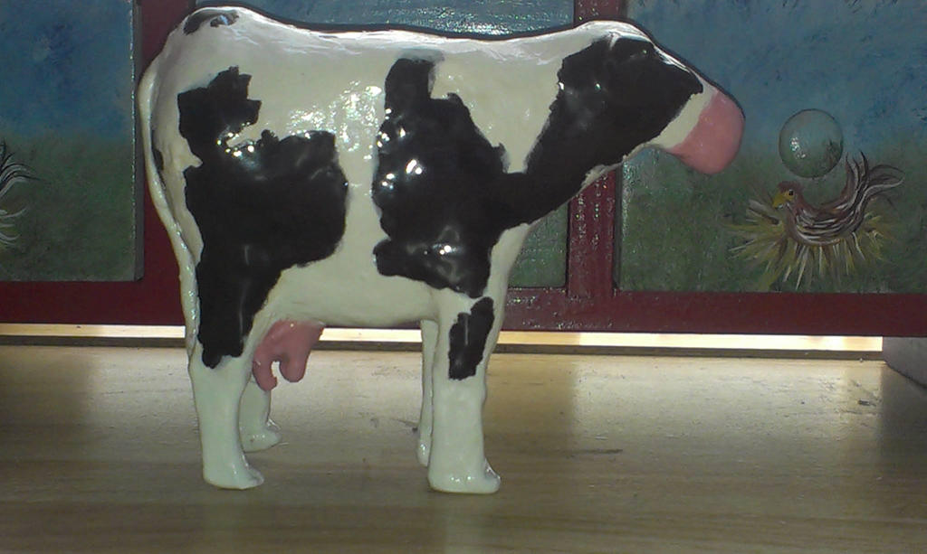 Clay Sculpture - Cow by Shaylynn14