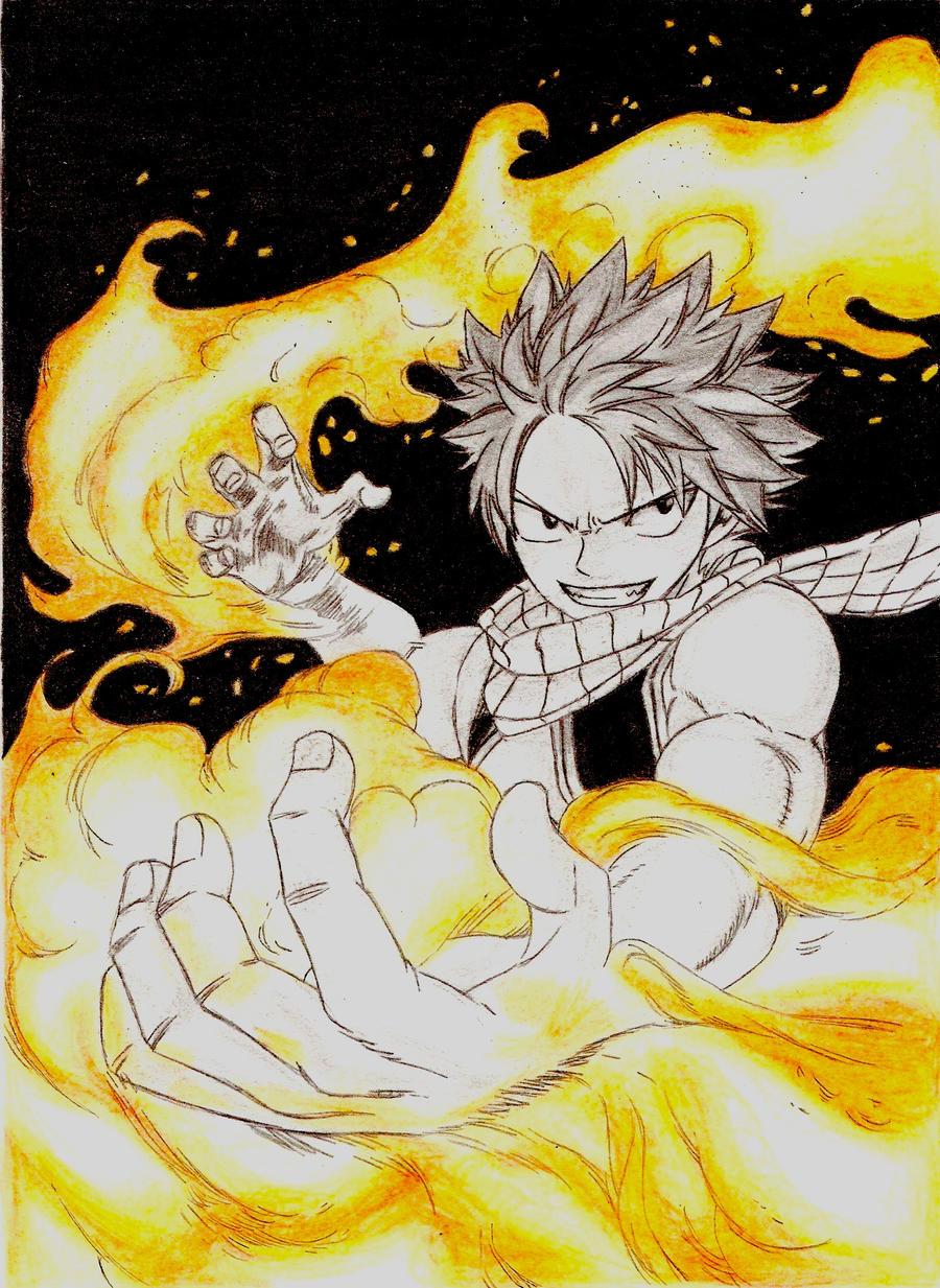 Natsu on fire! by Kello7