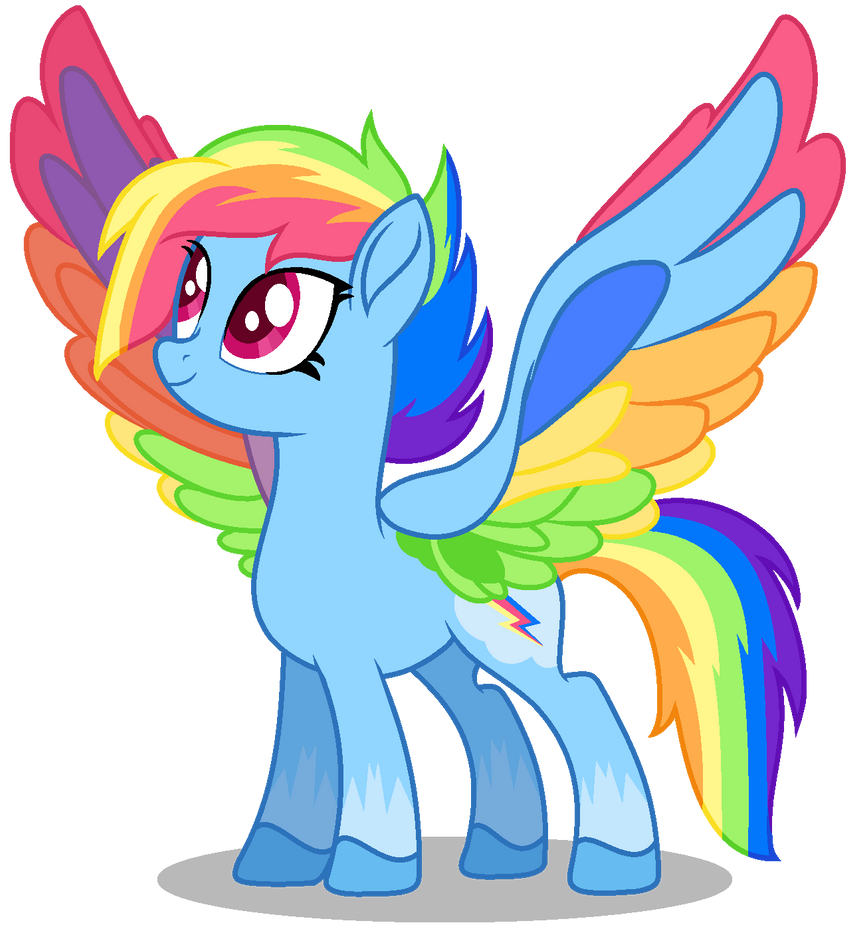 Gen 5 Rainbow Dash Vector by yuettung116 on DeviantArt