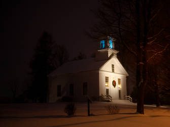 A Church in Winter by screwyphotographer
