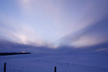 A Cold Wispy Sunset II by screwyphotographer