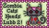 Zombie Cat Stamp
