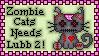 Zombie Cat Stamp by SazLeigh