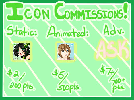 Icon Commission Sheet **OPEN**
