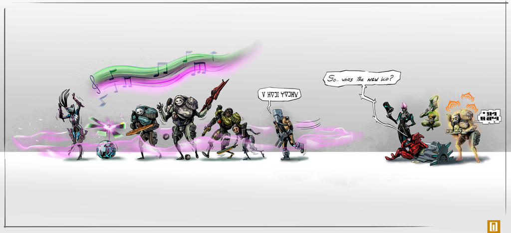 Warframe Who Is The New Kid By 7circle On Deviantart