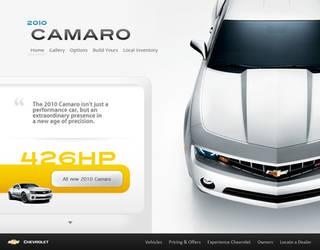 Camaro website concept by jrdnG