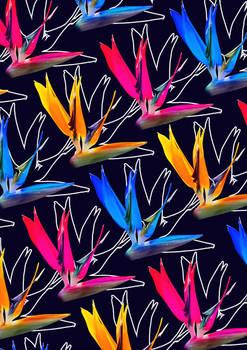-Paradise Flower- surface pattern