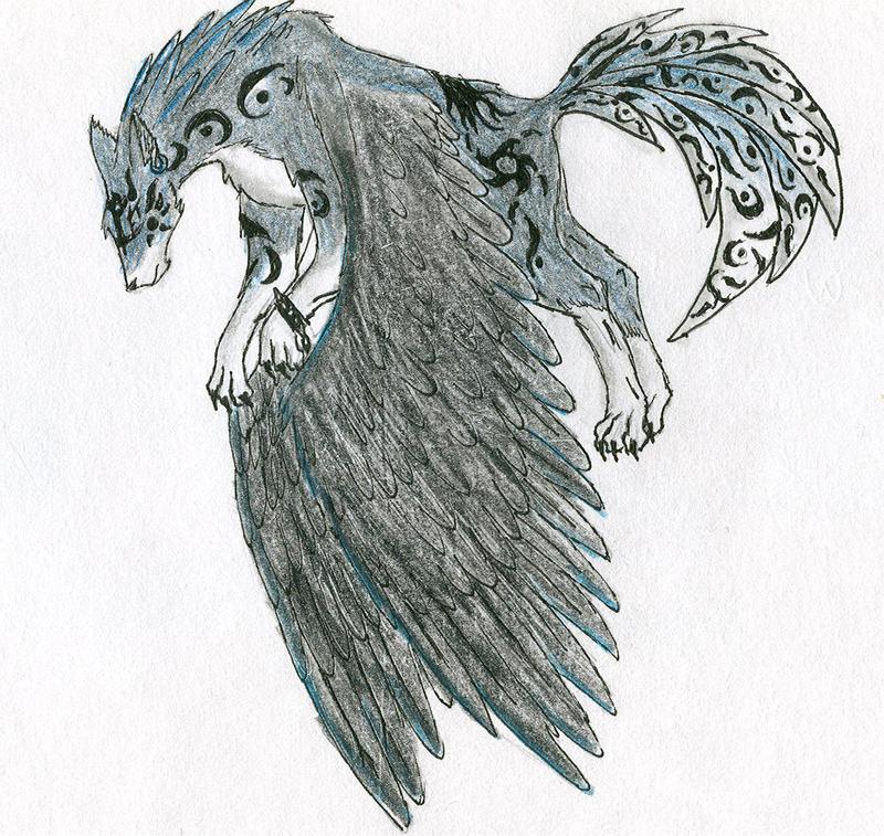 Dark Angel Wolf Link by Lunatheshewolf on DeviantArt