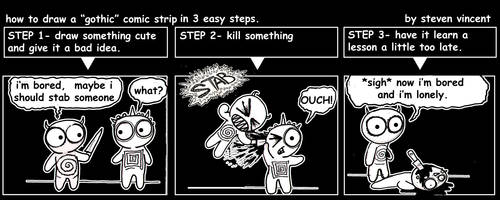How to draw a 'gothic' comic by angrydrunksteve