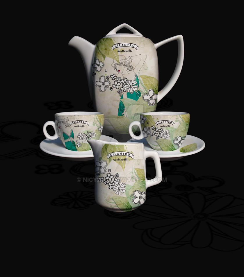 Cilantro - Tea Set 7 by nicy2002