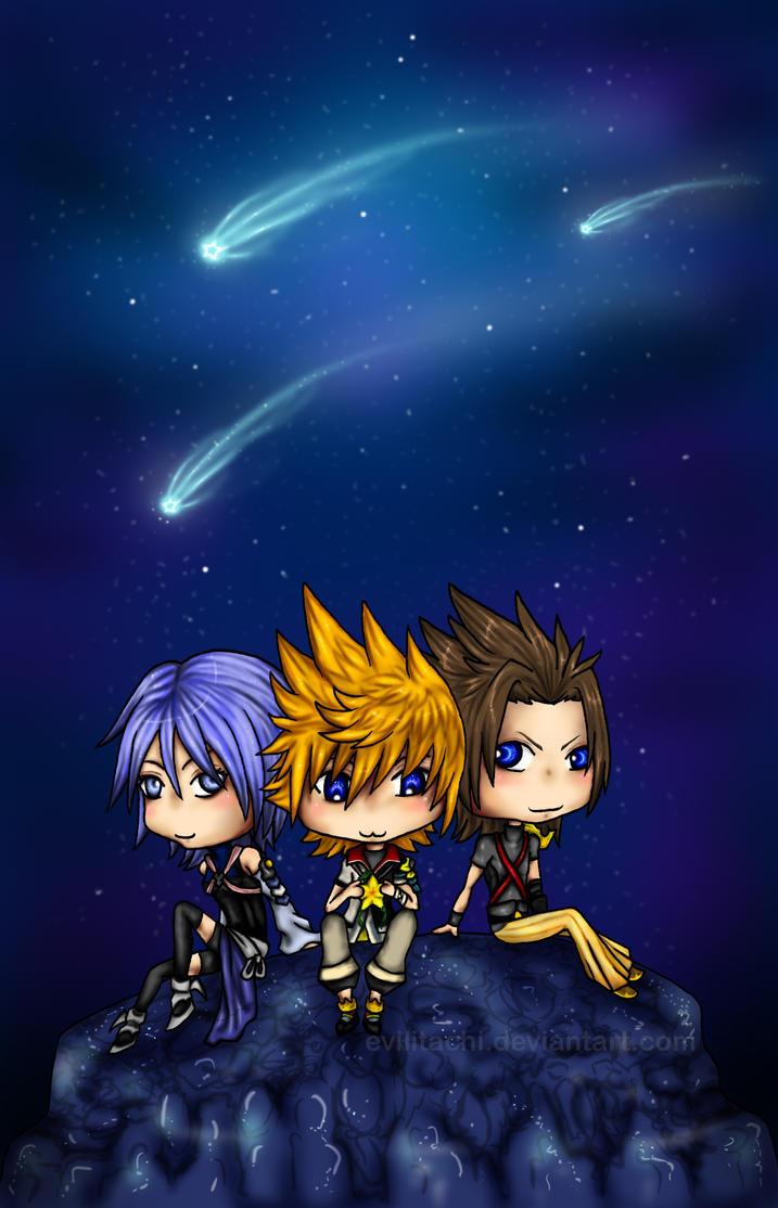 KH: BBS: Star Shower by evilitachi