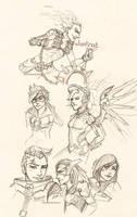 Overwatch Sketchdump by owopyre