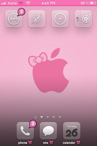 Girly Pink Iphone By Kthrnmtk