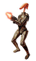 C-3PO With Battle Droid Head
