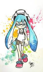 splatoon girl  by Oi1Bob