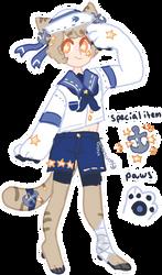 Mizu Botoko (coat bean mascot) by MOO-NICORN