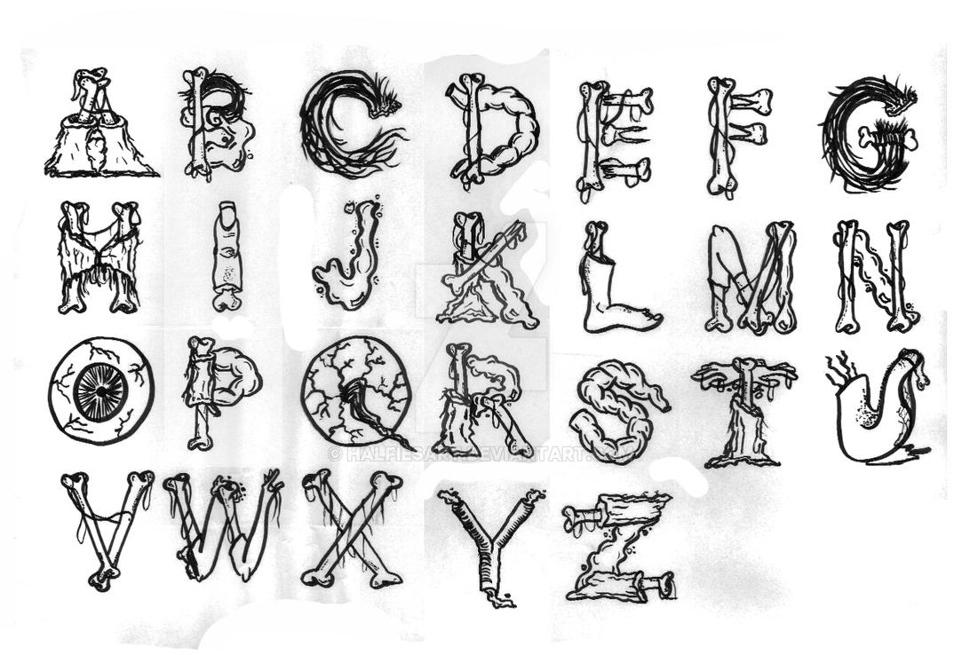 Zombie Chow Alphabet By Halfiesart On Deviantart