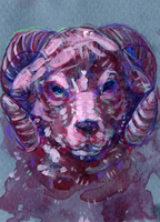 daily illustration // march 17 2014 ram by bialykots