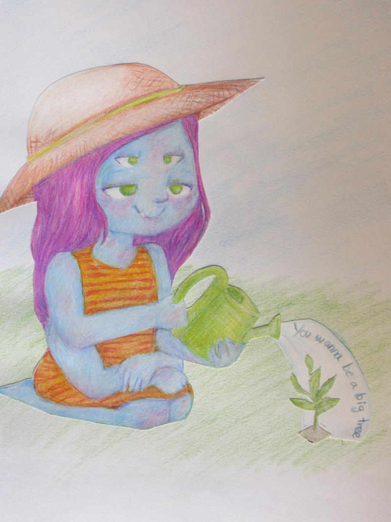 The alien and the plant by llimaambxoco
