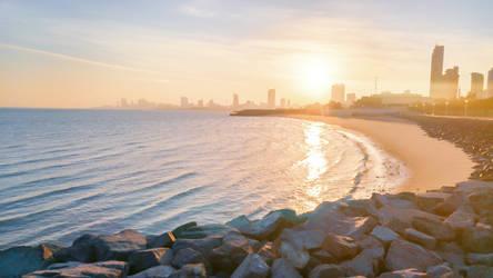 Kuwait's beautiful coastline by MarwansArt