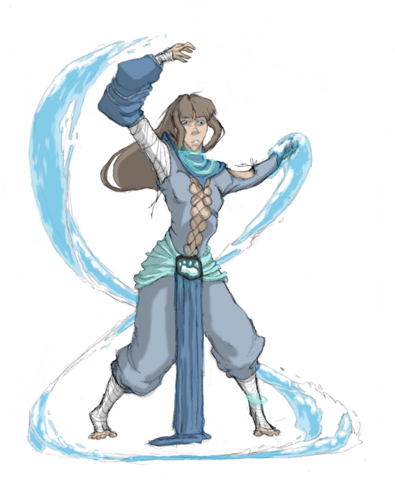 Commission: Waterbender No1 by moptop4000