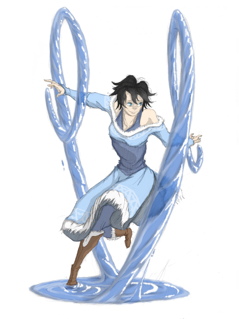 Commission:Conexionmanga OC waterbender by moptop4000