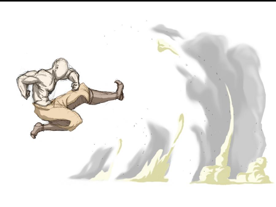 Airbending Long Kick by moptop4000