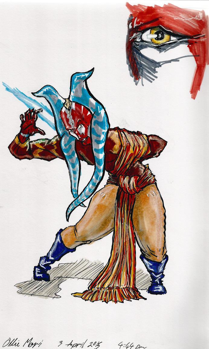 OC Male Togruta Jedi by moptop4000