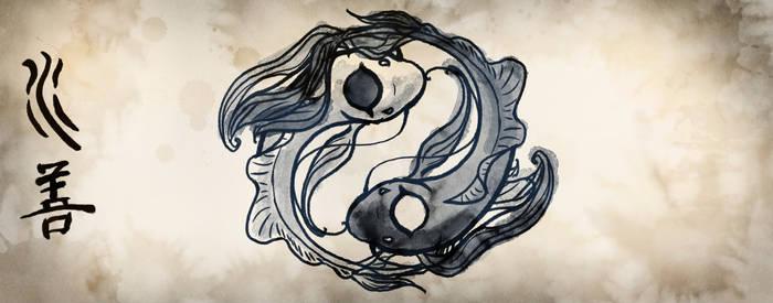 Koi Fish Scroll
