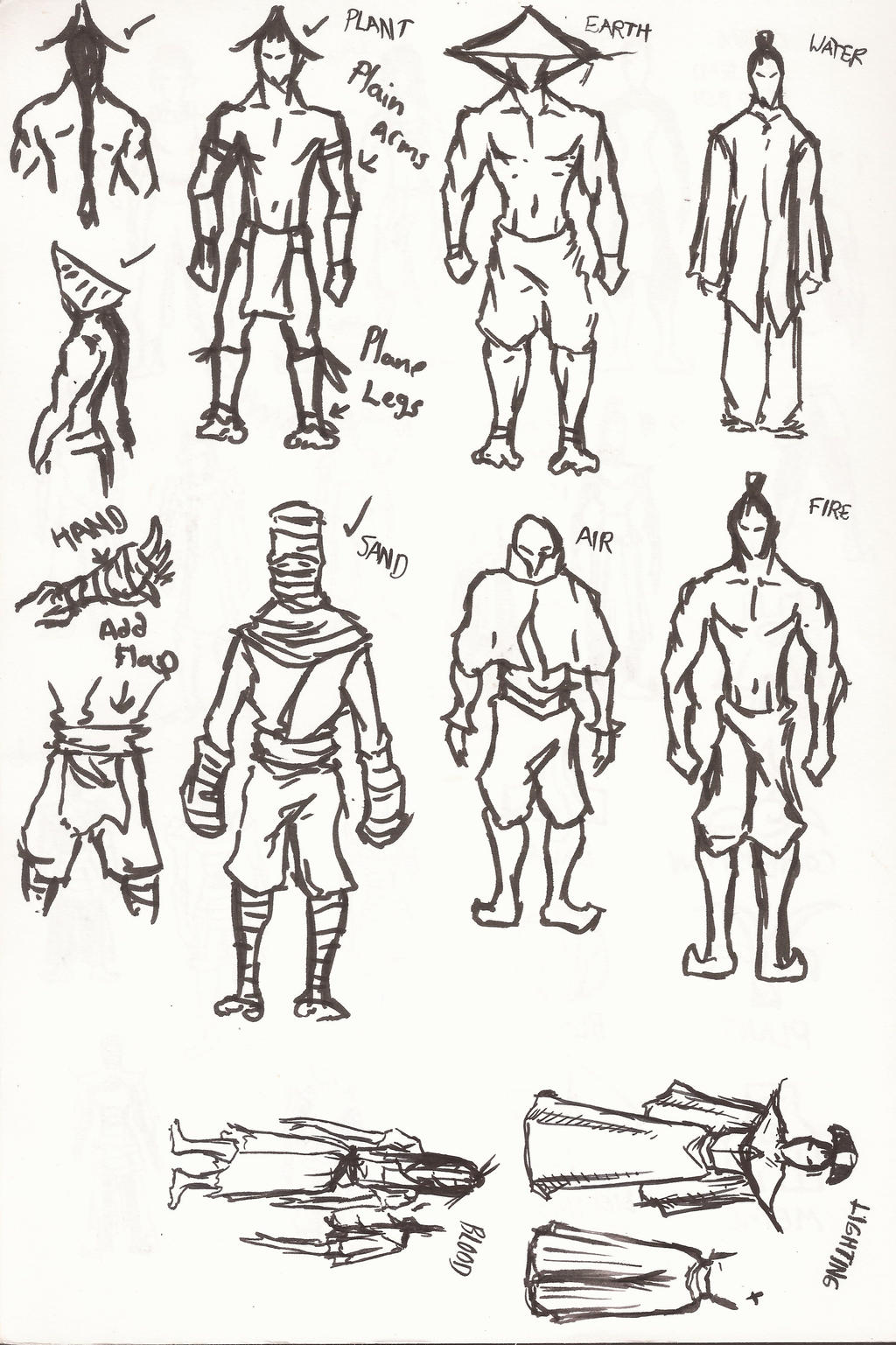 Bending Scrolls Character Design Part 1/2 by moptop4000 on