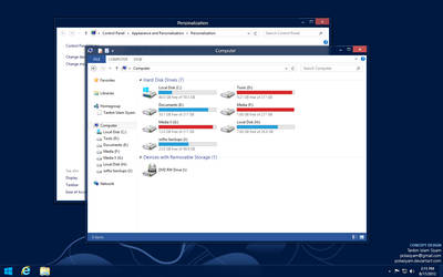 Windows 8 Desktop Theme Concept