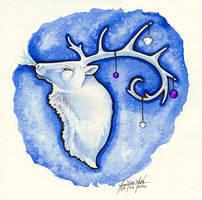 Winter Elk by Yote