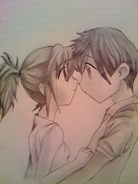 cute anime couples in love. Cute Anime Love Drawings.
