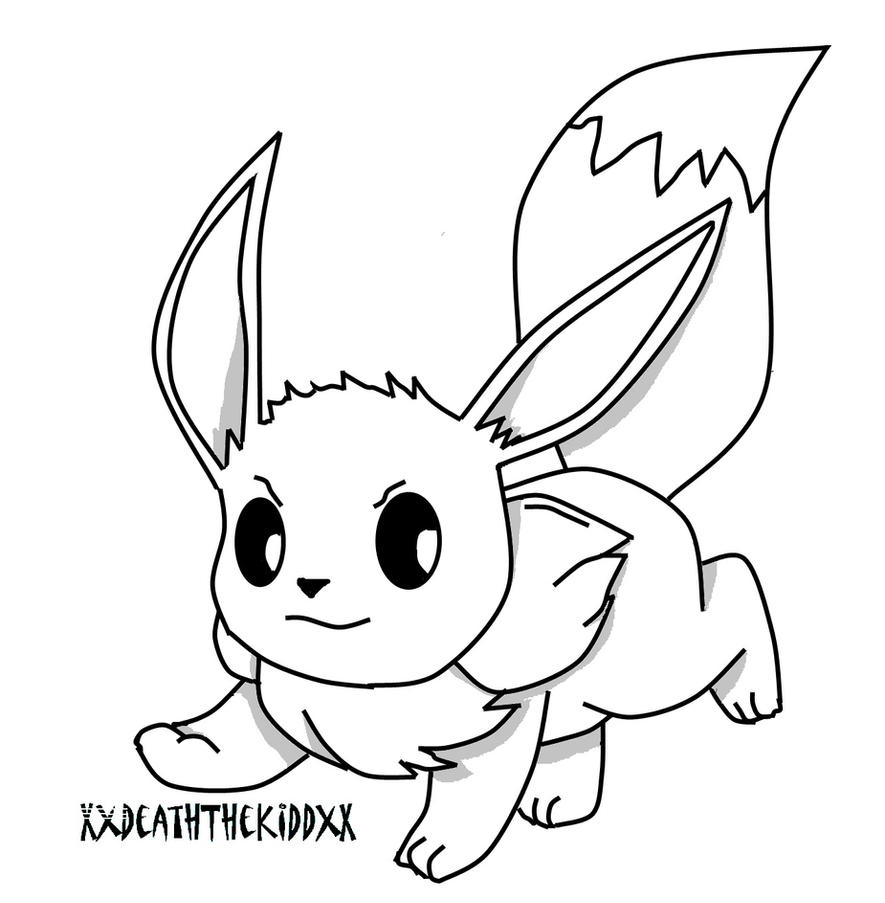 Eevee and pikachu coloring pages - Eevee Base By Emperor Lee