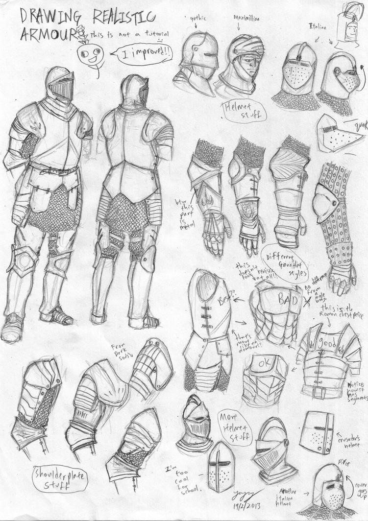 Medieval European Armour Sketch by Iron-sage on DeviantArt