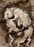 Rattober #21 Raiju the Lightning Rat