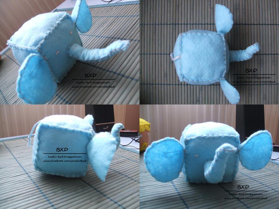 Elephant - felt cube by nezstorm