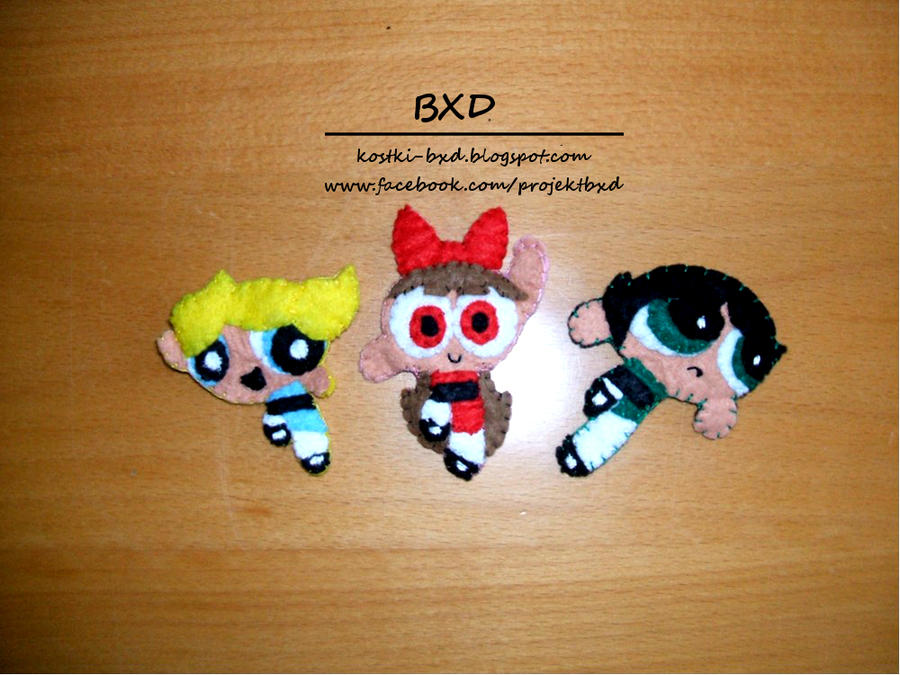 Powerpuff Girls - felt pins set by nezstorm